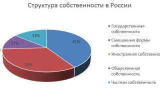 Формы и виды собственности в России