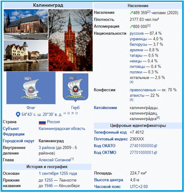 Сколько жителей в калининграде